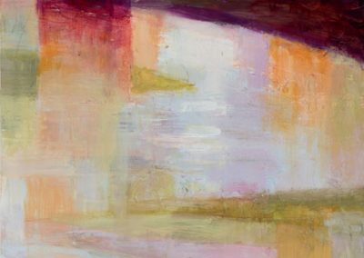 """Abstract Shapes Reflecting #2"", 12"" x 24"", oil on board, $750"