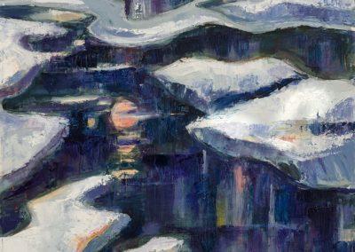 """Arctic Melt""-24"" x 36"", oil on canvas,$1000"