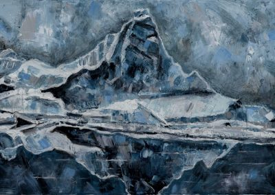 """Arctic Reflection""- 24"" x 36"", oil on canvas, $1075"
