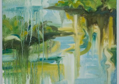 "Foliage Drip Reflection #1 18"" x 24"" oil on canvas $450"