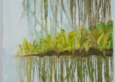 """Foliage Drip Reflection #3 18"" x24"" oil on canvas, $475"