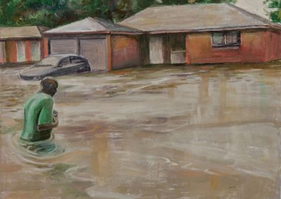 """Houston Tragedy""-24"" x 30"", oil on canvas, $800"