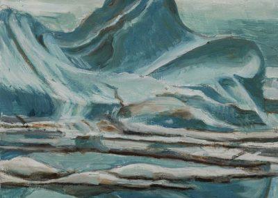"""Ice Reflection #1"", 10"" x 12"", oil on board, $350"