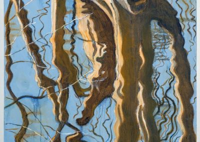 """Large Tree Reflection #1"",24"" x 30"", oil on canvas, $975"