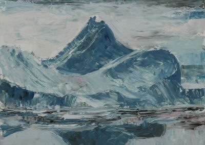 """Mountain of Ice""- 23.75"" x 17.75"", oil on board, $750"