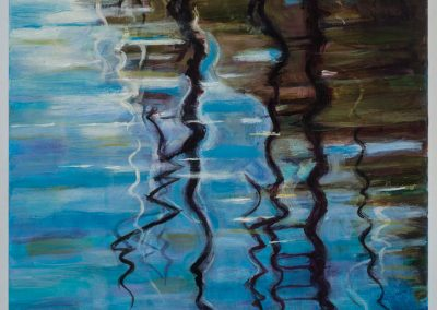"""Water Reflection in Blue""-18""x 24"", oil on canvas, $700"