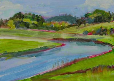 """""""Ipswich Marshes #1"""", 9"""" x 12"""", oil on board, $300"""