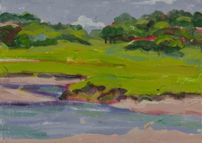 """""""Ipswich Marshes #3"""", 9"""" x 12"""", oil on board, $300"""