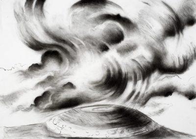 "'Irish Cloud Series #3, 18"" x 24"", charcoal on paper, $450"