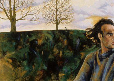 """""""Kyle"""", 72"""" x 45"""", oil on canvas, NFS"""