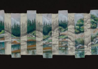"Maine Multiples #1- 11"" x 24"",Pastel $600"