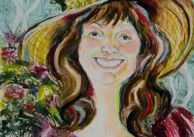 """Portrait of Maxine"", 18"" x 24"", Oil Stick, $400"