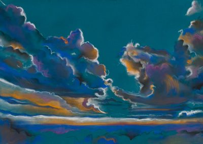 """Sunset Cloud Forms"", 30"" x 40"", pastel on paper, $475"