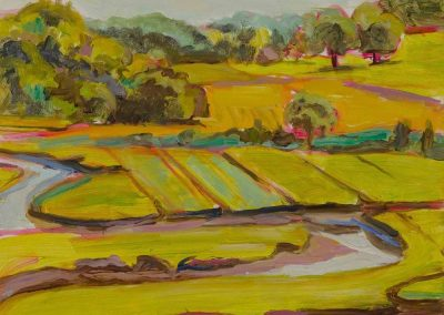 """""""View from Castle Hill #2""""-12""""x 12"""", oil on board, $350"""