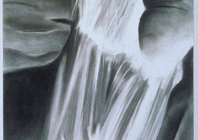 """Waterfall Series #4"", 30""x30"", charcoal on paper, $500"