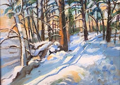 """Winter Blues"" -8.75"" x 11.75"", oil on paper, $275"