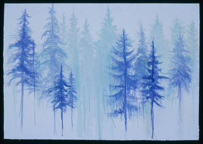 """Winter Fog""-16"" x 20"", watercolor on paper, $550 (Available as a print)"